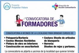 Municipio convoca formadores para dictar talleres