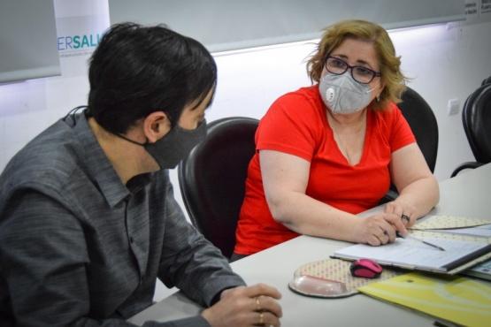 Pablo Grasso recorrió el Peliche y se reunió con autoridades de la Secretaría de Salud
