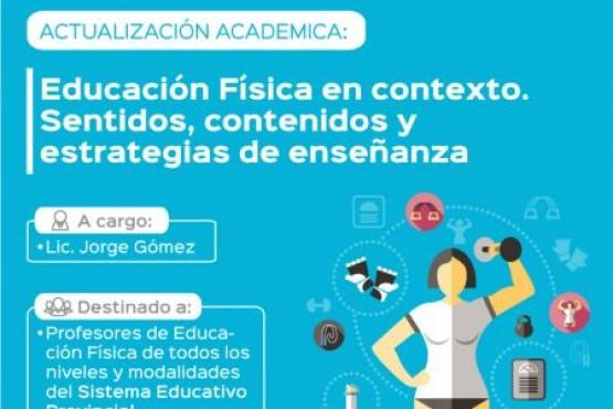 Mañana inicia la preinscripción a la Actualización Académica en Educación Física