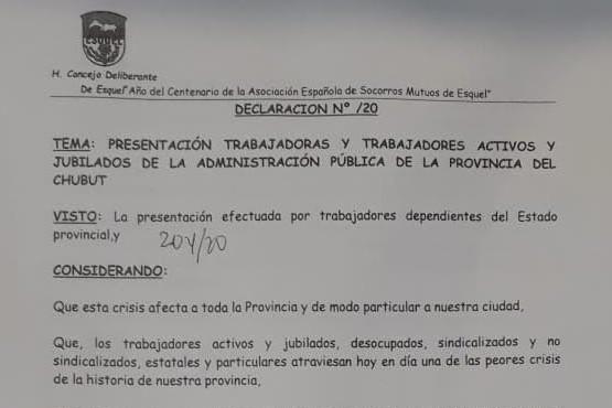 El HCD aprobó el petitorio de la Mesa de Unidad Sindical