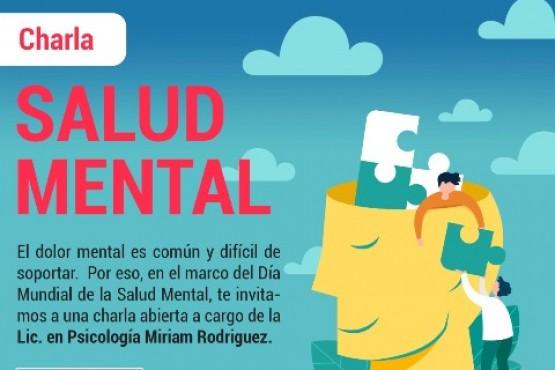 Salud brindará una charla sobre Salud Mental