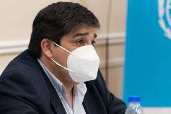 Claudio García, Ministro de Salud de la Provincia.