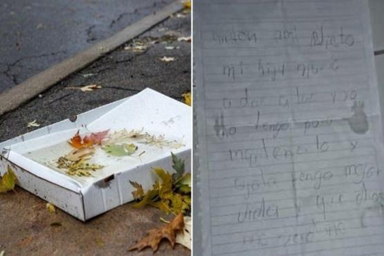 Abandonó a su nieto en una caja de pizza: