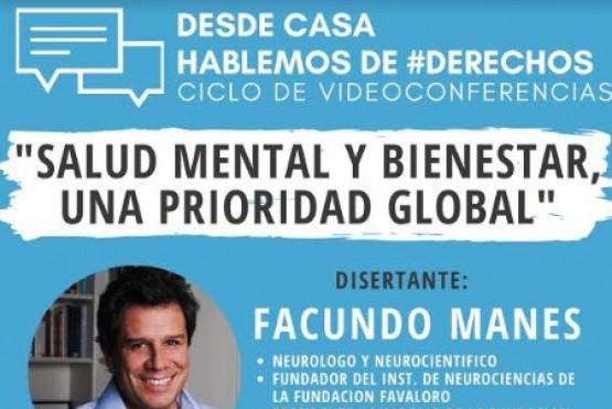 """Derechos Humanos brindará una nueva charla """"Salud Mental y Bienestar, una prioridad global"""""""