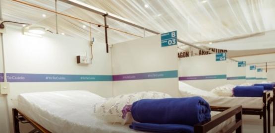 Confirman el ingreso de los primeros pacientes al hospital de campaña