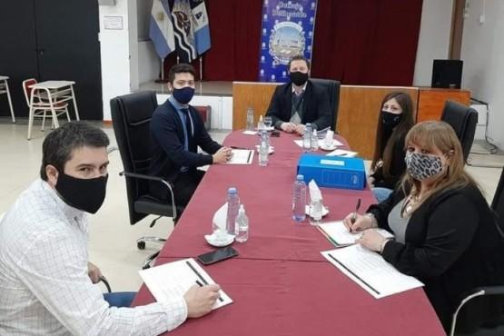 Sesiones de comisiones en el Concejo Deliberante.