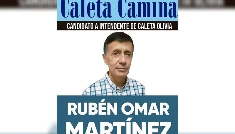 Martínez fue candidato a Intendente de Caleta Olivia en 2019.