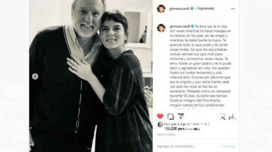 Gimena Accardi mostró el último regalo que recibió de su padre