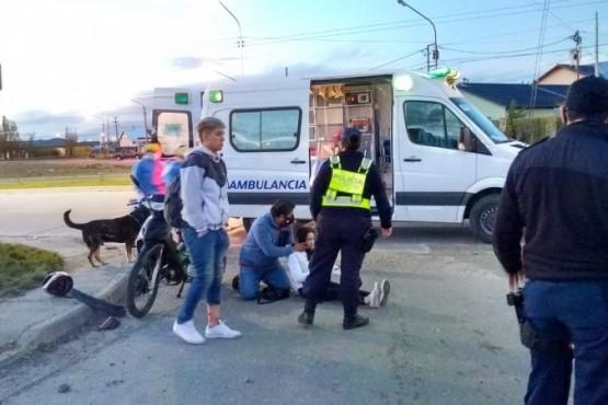 Hospitalizados tras choque (Foto: Cristian González)