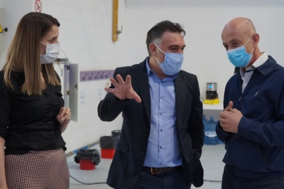 Cotillo y Álvarez visitaron el Centro de Monitoreo del COE local