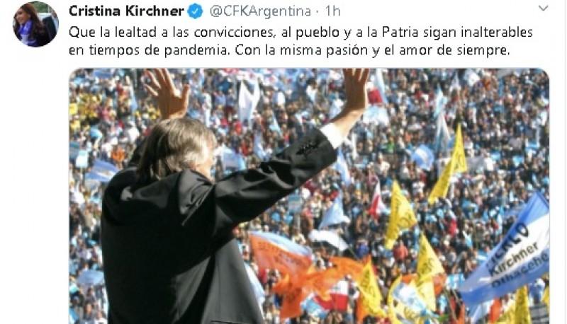 El tuit de Cristina Kirchner por el 17 de Octubre