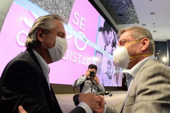 Arcioni compartió con Alberto Fernández el acto central del Día de la Lealtad