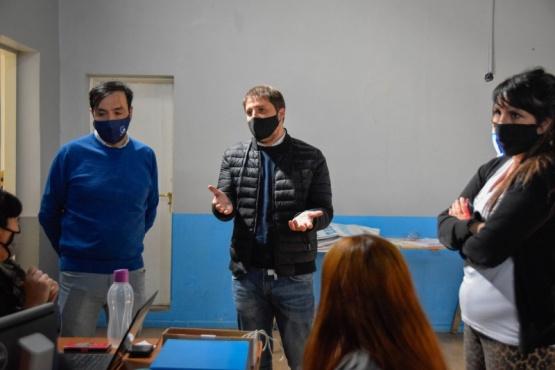 El Intendente Grasso y el Ministro Zuliani visitaron el Observatorio Municipal de la Pandemia