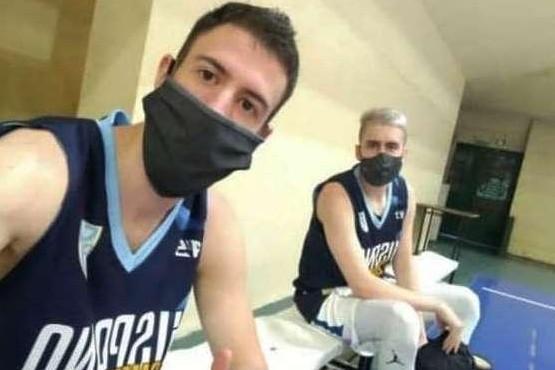 Gargallo y Sansimoni en el entrenamiento de ayer.