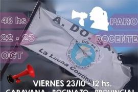 ADOSAC con paro, caravana y bocinazos