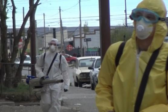 La Agrupación La Néstor está llevando a cabo operativos de desinfección