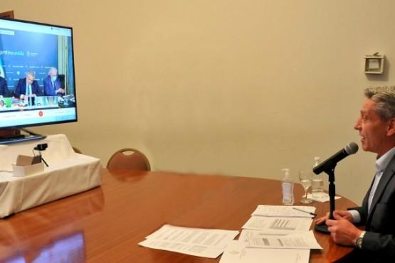 Arcioni participó junto a otros gobernadores en una videoconferencia con Alberto Fernández