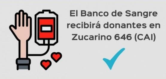 Este sábado invitan a ser donantes voluntarios de sangre