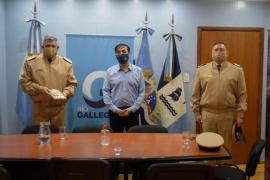 Visita protocolar: Grasso recibió a autoridades de Prefectura
