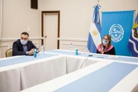 Alicia dialogó con el nuevo secretario General del CFI