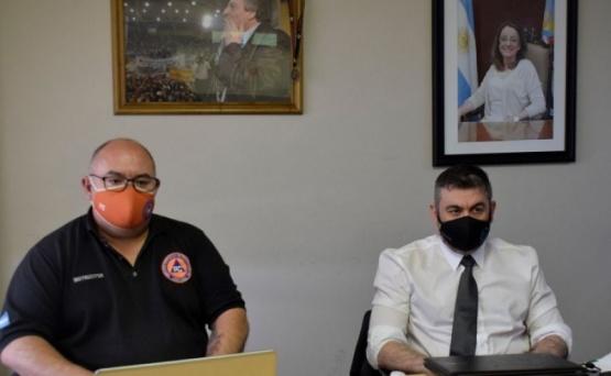 Protección Civil en la videoconferencia.