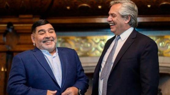Alberto y Maradona.