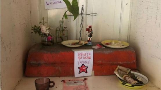 Hallaron un altar del Gauchito Gil en el campo de los Etchevere