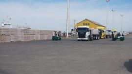 El puerto de Puerto Deseado exportará15 mil toneladas de cemento