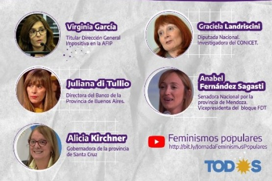 Alicia Kirchner cerrará la Jornada Patagónica de Feminismos Populares