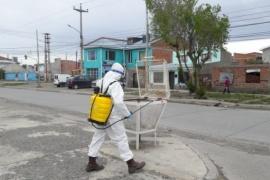 El operativo del barrio Belgrano culminó con la desinfección de calles y veredas