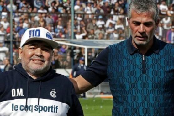 Maradona y Pellegrino.
