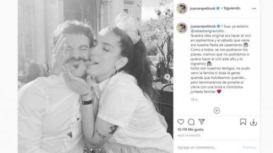 Así fue el casamiento de Juana Repetto y Sebastián Graviotto.