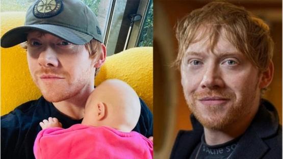 Rupert Grint debutó en Instagram revelando el nombre de su hija