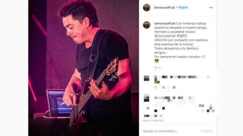 La publicación en instagram.