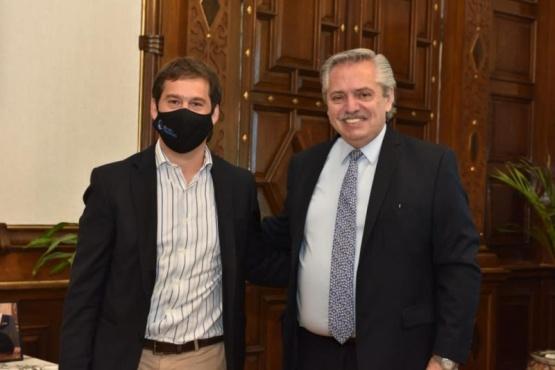 Luque se reunió con el presidente Alberto Fernández