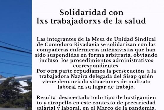 La MUS envió su solidaridad con los trabajadores de la salud