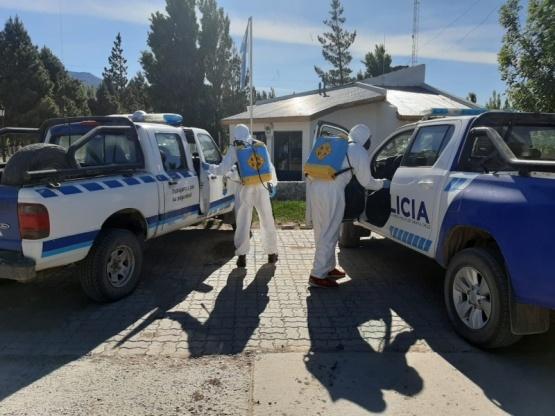 Realizaron tareas de sanitización en Los Antiguos y Lago Posadas