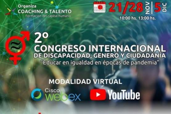 La Provincia participará en el IIº Congreso Internacional de Discapacidad, Género y Ciudadanía