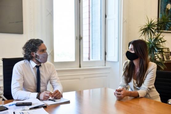 Santiago Cafiero se reunió con la intendenta de Salta por el Programa Argentina Hace