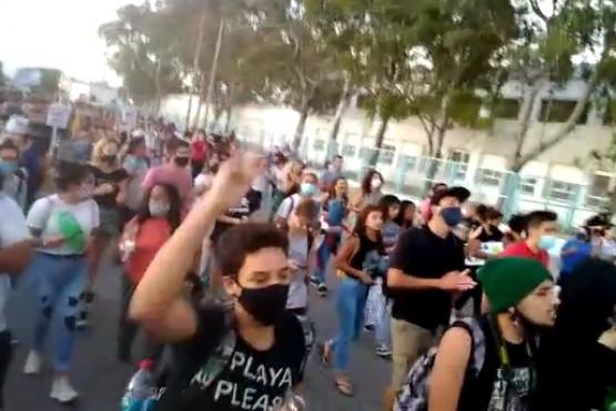 Organizaciones y dirigentes gremiales se manifestaron contra la megaminería