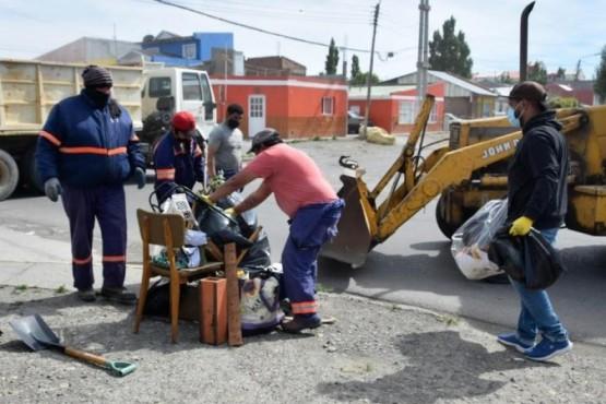 Trabajos en el barrio Belgrano.
