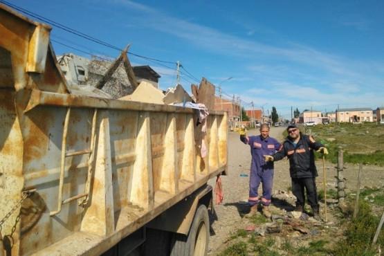 Río Gallegos| Trabajos de limpieza y mantenimiento en el Vaciadero