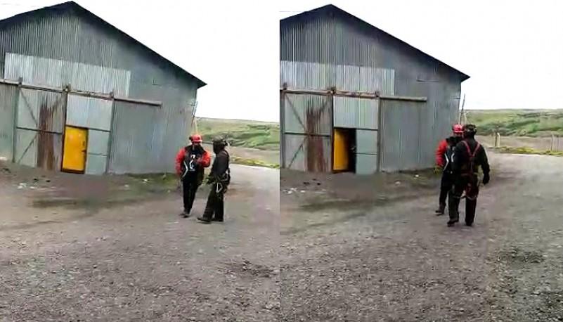 Agresión a Machaca, secretario Gremial de Luz y Fuerza. (captura de video)