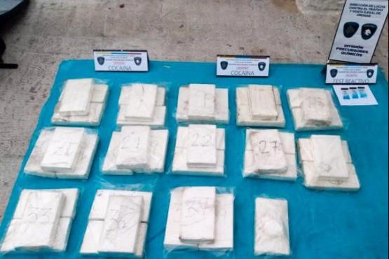 Cocaína incautada (Foto NA)
