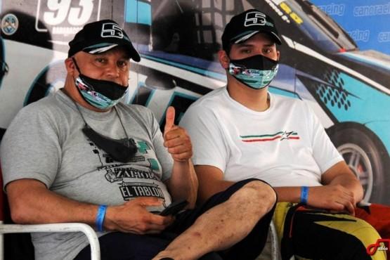 """""""Beto"""" Martínez, junto a su hijo Thiago, en uno de los últimos momentos que pasaron juntos en acción."""