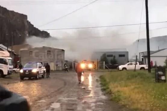 El Chaltén  Incendio en edificio de departamentos