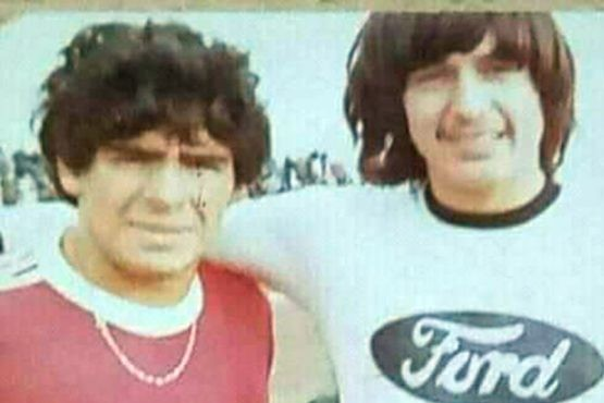 El recordado partido del Diego en Río Gallegos (Diario Crònica)