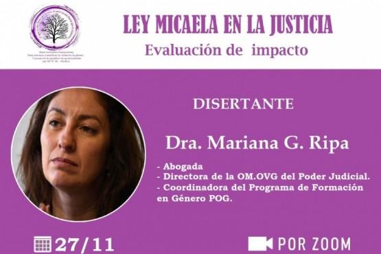 """Invitan a participar de la charla """"Ley Micaela"""": Evaluación de impacto en la Justicia"""