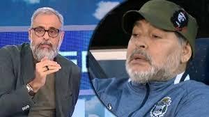 Jorge Rial y Diego Maradona.