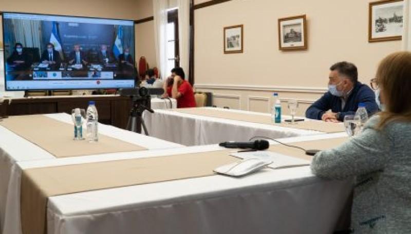 Santa Cruz| Alicia Kirchner participó de una videoconferencia con el Presidente